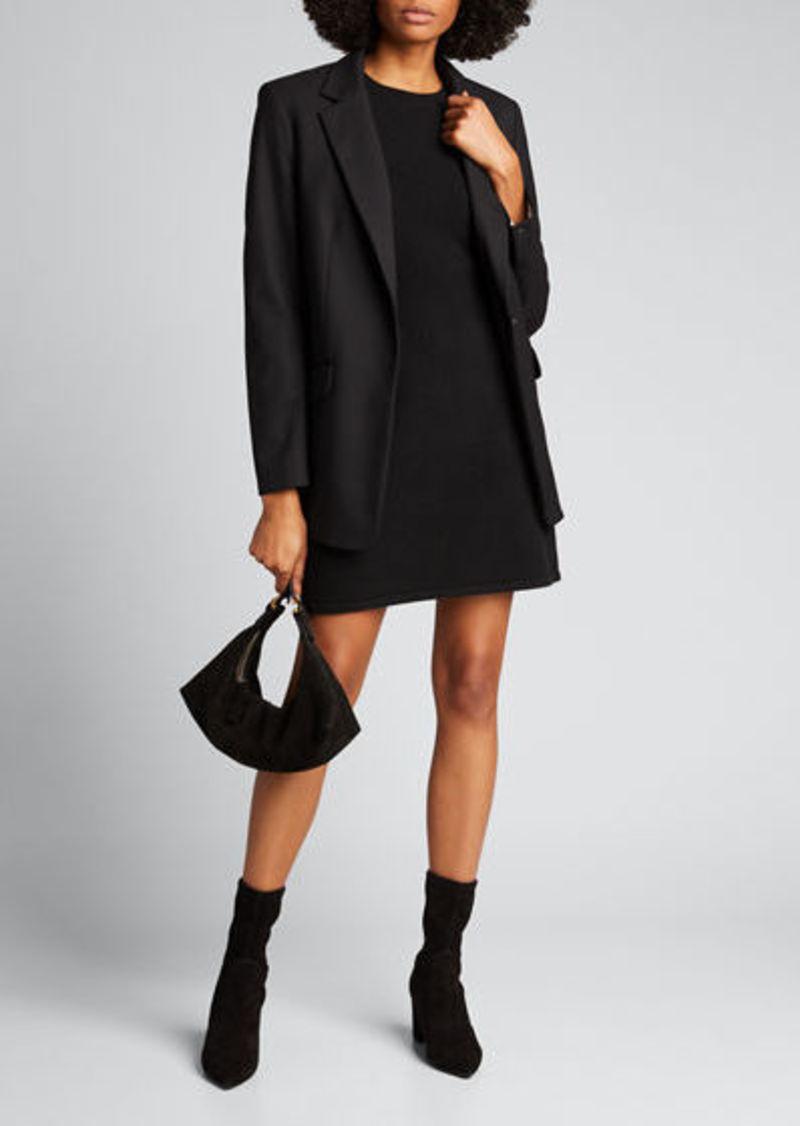Theory Ribbed-Waist Wool-Cashmere Sweater Dress