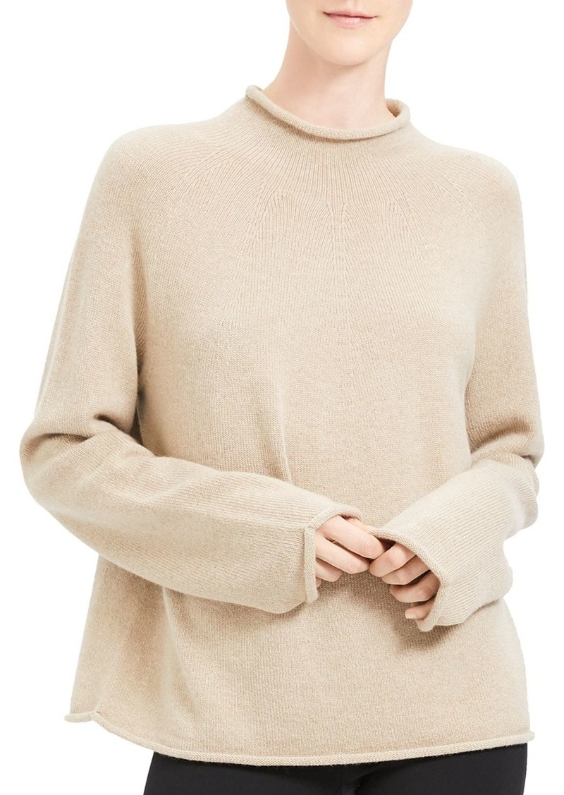 Theory Rolled-Edge Cashmere Sweater