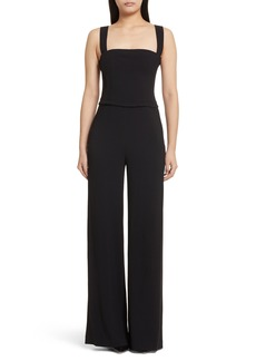 Theory Rosina Bustier Crepe Jumpsuit