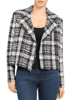 Theory Rubber Tweed Slim Moto Jacket