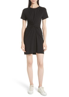 Theory Rubri Knotted T-Shirt Dress