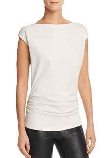 Theory Ruched Cap Sleeve Top