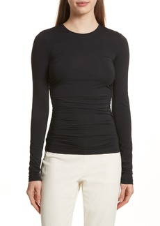 Theory Ruched Jersey Tee
