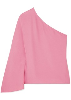 Theory Ruza One-shoulder Crepe Top