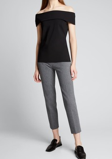 Theory Sabrynna Off-the-Shoulder Tee