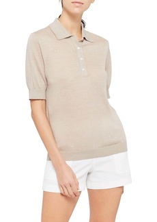 Theory Sag Harbor Linen Blend Polo