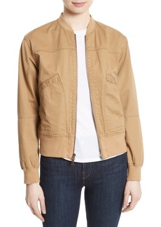 Theory Salair Washed Chino Bomber Jacket