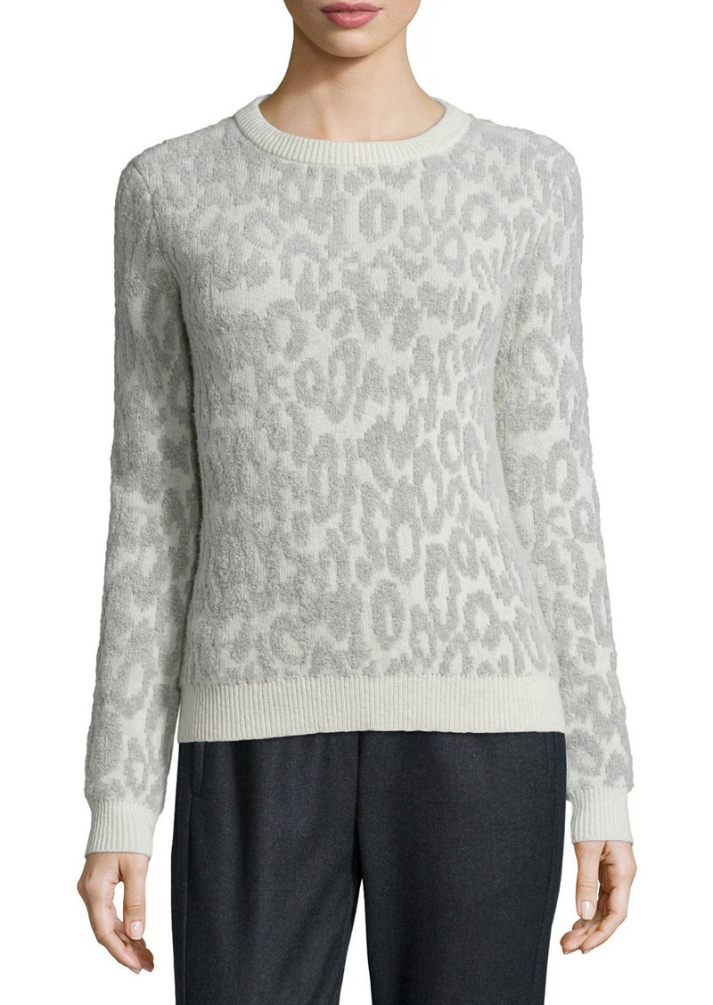 Theory Salomay Leopard-Print Knit Sweater