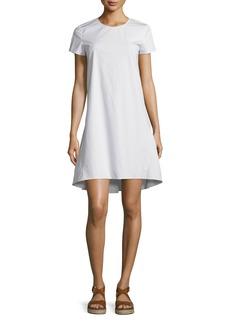 Theory Sandrin Light Poplin Short-Sleeve Dress