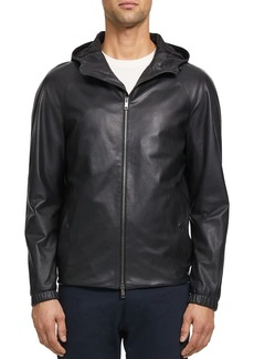 Theory Sanford Leather Regular Fit Jacket