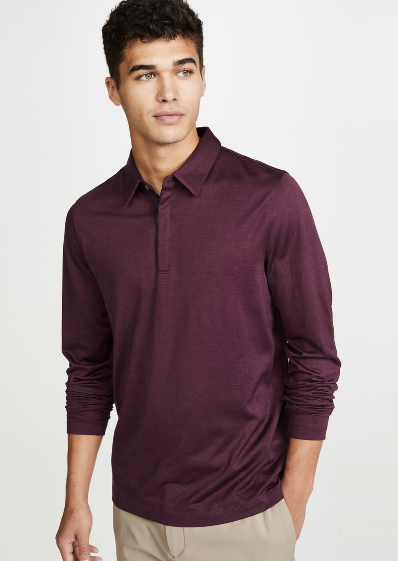 Theory Sartorial Long Sleeve Polo