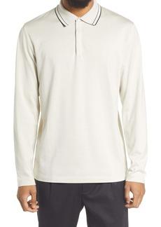 Theory Sartorial Silk Polo Shirt