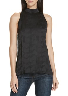 Theory Satin Jacquard Sleeveless Blouse