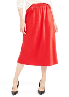 Theory Satin Pull-On Skirt