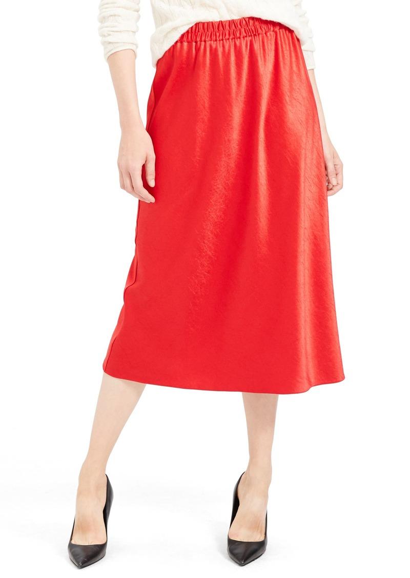 Theory Satin Pull-On Skirt