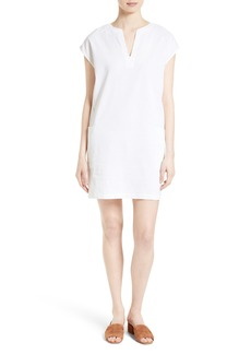 Theory Saturnina Stretch Linen Shift Dress
