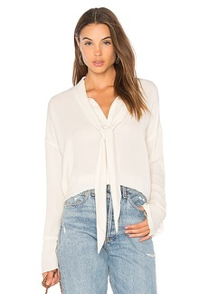 Theory Scarf Blouse in Ivory. - size L (also in M,S,XS)