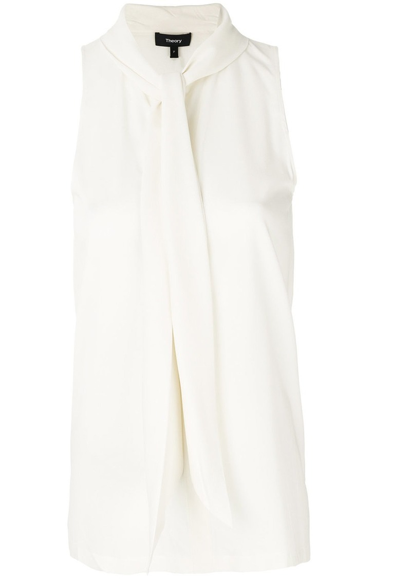 Theory scarf neck blouse - Nude & Neutrals