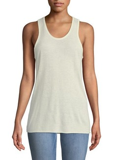 Theory Scoop-Neck Sleeveless Cashmere Tank Top