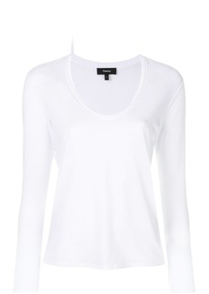 Theory scoop V-neck top - White