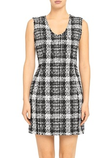 Theory Sculpt Rubber Tweed Dress