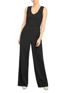 Theory Seamed Crepe Jumpsuit