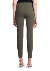 Theory Seamed Stretch Cotton Twill Trousers