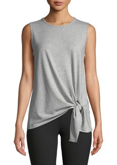 Theory Serah Rubric Knit Tie-Hem Sleeveless Top