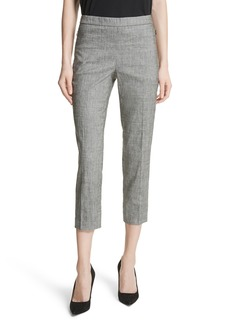 Theory Sharkskin Linen Blend Pants