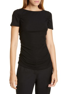 Theory Shirred Stretch Top