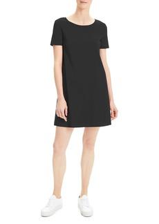 92a042ccc8f Theory Short-Sleeve Crunch Wash Shift Dress