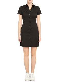 Theory Short Sleeve Shirtdress
