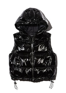 Theory Shrunken Patent Down Vest