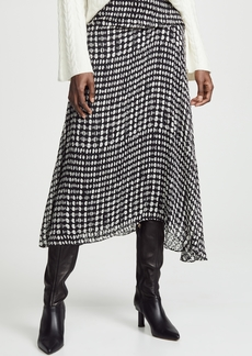 Theory Side Drape Midi Skirt