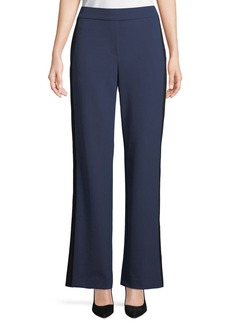 Theory Side-Snap Wide-Leg Perform Tech Pull-On Pants