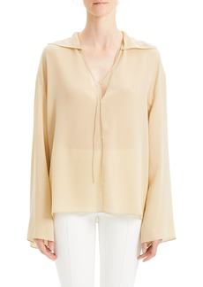 Theory Silk Chiffon Blouse