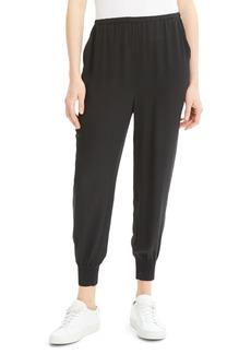 Theory Silk Jogger Pants