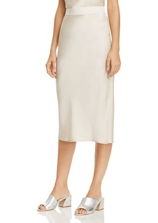 Theory Silk Midi Skirt