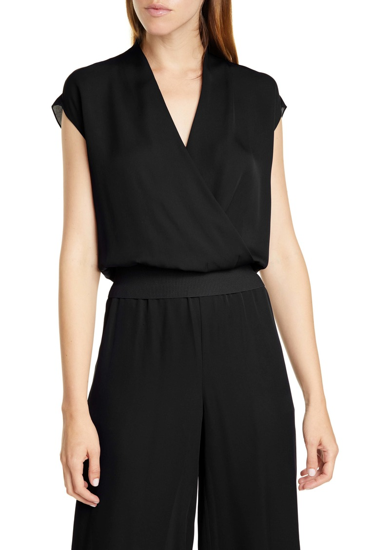 Theory Silk Wrap Top