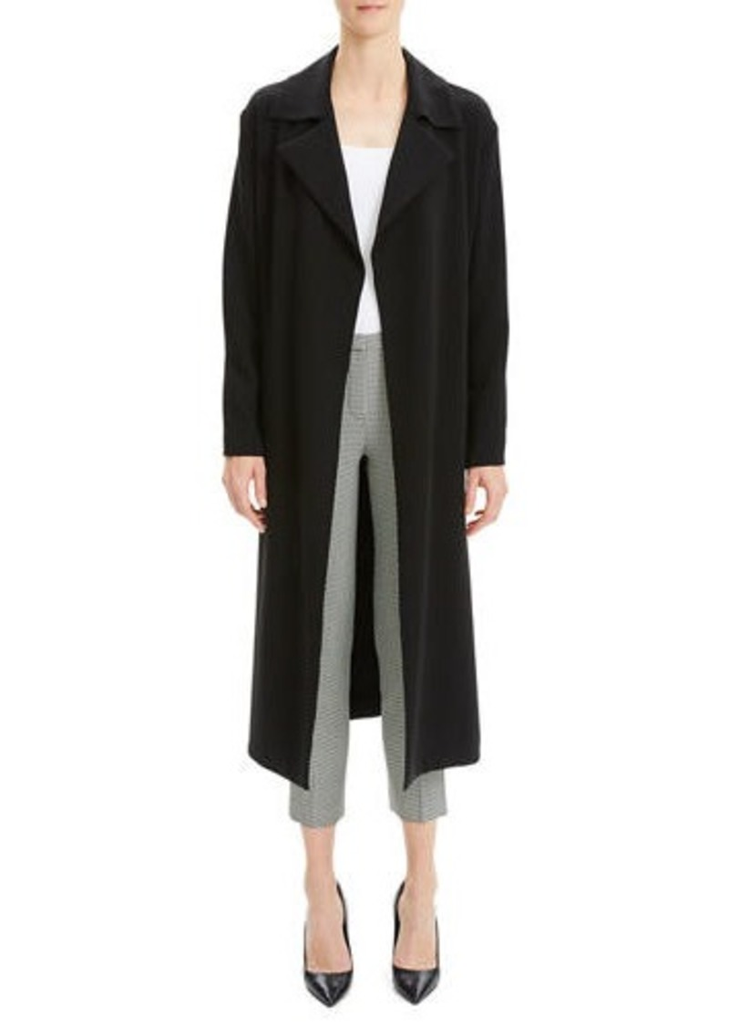 Theory Simple Open-Front Long Trench Coat