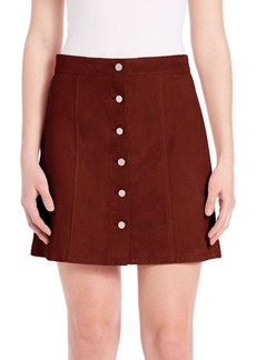 Theory Sinall Perfect Suede Mini Skirt