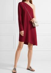 Theory Sintsi one-shoulder crepe mini dress