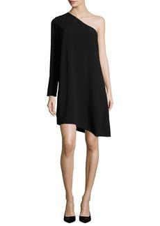 Theory Sintsi Rosina Crepe One-Shoulder Dress