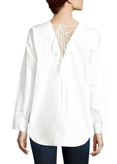 Theory Sirtani Lace-Up Top