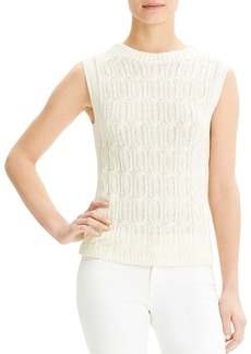 Theory Sleeveless Cable-Knit Top