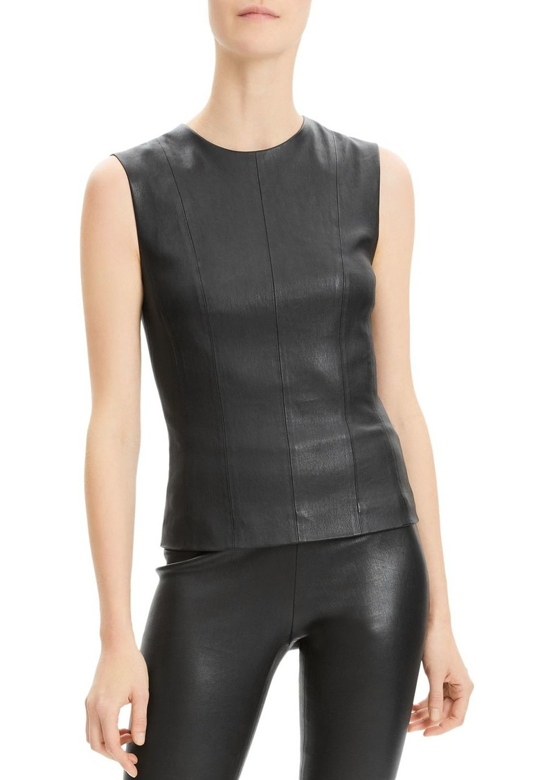 Theory Sleeveless Leather Top