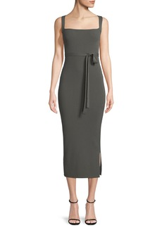Theory Sleeveless Midi Dress w/ Cross Back