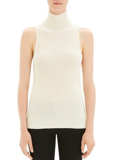 Theory Sleeveless Mock-Neck Sweater