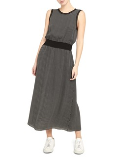 Theory Sleeveless Silk Maxi Dress