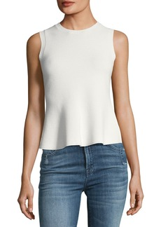 Theory Sleeveless Textured Knit Shell Top